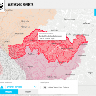 WWF assessed half of Canada's watersheds, and the results are pretty much what you'd expect.